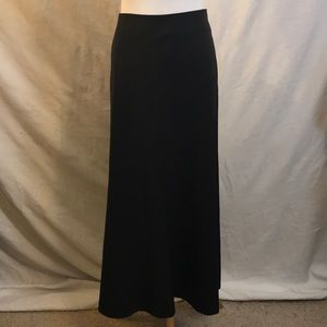 BR Long Black Skirt Wool Blend size 12